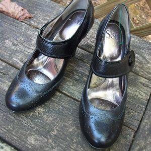 Sofft Black Mary Jane Misses Shoe Size 10 M